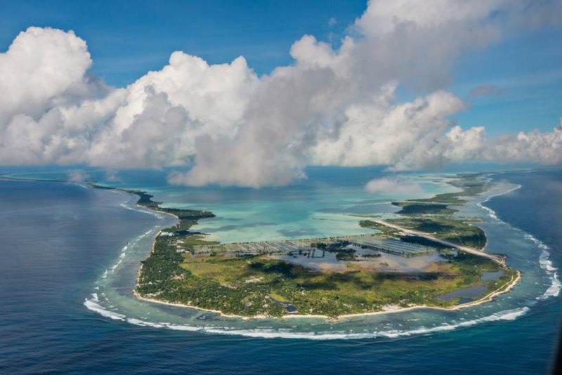 Aerial photo of Phoenix Island