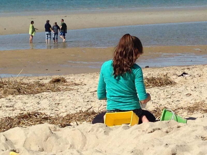Girl on beach – Cape Cod 2015